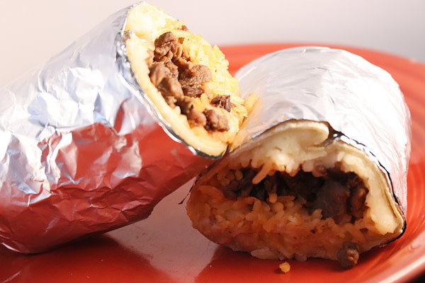 Kids meat burrito
